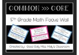 5th Grade Math Focus Wall