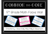5th Grade Math Focus Wall