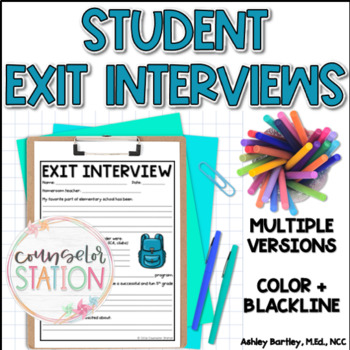 5th Grader Exit Interview Survey