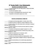 5th Math Common Core Student Checklist