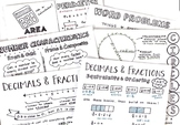 5th Math Doodle Note Study Guides