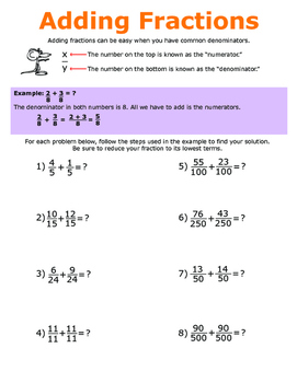 5th Math Fraction Practice