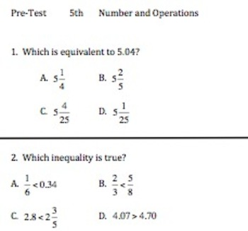 5th Math TCAP Review: Number and Operations Practice Test