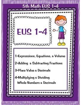 5th Math TEKS EUS 1-8 for Leander ISD Texas