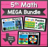 5th Math TEKS ✩ STAAR Test Prep ✩ Digital MEGA Bundle