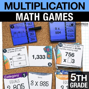 5th - Multiplication Math Centers - Math Games