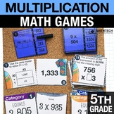5th - Multiplication Math Centers - Math Games