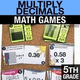 5th - Multiply Decimals Math Centers - Math Games