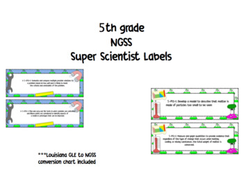 5th NGSS Super Scientist Labels