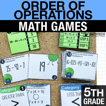 5th - Order of Operations Math Centers - Math Games