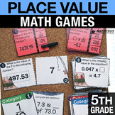 5th - Place Value Math Centers - Math Games