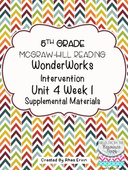 5th Grade Reading WonderWorks Supplement- Unit 4 Week 1