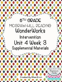 5th Grade Reading WonderWorks Supplement- Unit 4 Week 3
