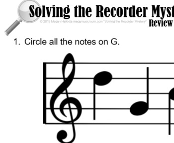 """5th Recorder Lesson - Solving the Recorder Mystery """"Decoding G"""" VID/PPT/PDF"""