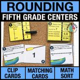 5th Grade Math Games - Rounding Decimals Math Centers - Guided Math Centers