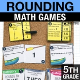 5th - Rounding Decimals Math Centers - Math Games