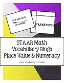 5th STAAR Math Vocabulary Bingo: Place Value and Numeracy TEKS