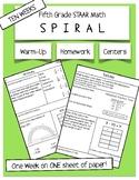 Fifth STAAR MATH Spiraled Homework or Warm Up - 10 Weeks