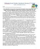 5th TN Social Studies Standards 5.61-5.74 Modern United St