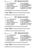 5th TX Reference Chart Mini Measurement Quiz
