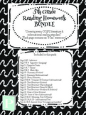5th Grade YEARLONG Reading Homework Bundle
