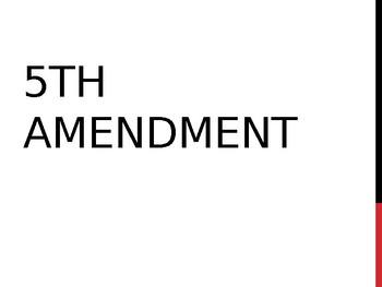 5th amendment powerpoint by social studies creationz tpt
