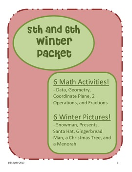5th & 6th - Large Winter/Christmas Packet - Math Coloring