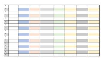 5th grade 1st 9 weeks Math Gradebook Standards Based