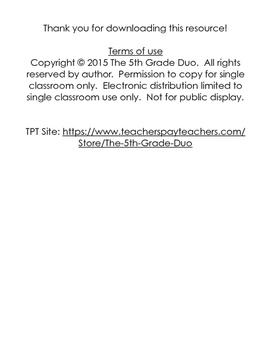 5th grade 5.NBT.6 weekly math review