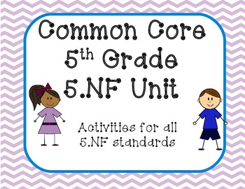 5.NF CCSS for Fractions -5th Grade Bundle Pack