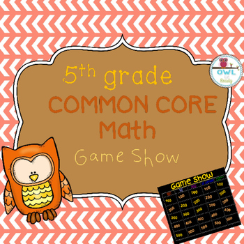 5th grade COMMON CORE MATH Game Show Review