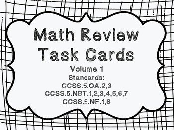 5th grade Common Core Math Review Set 1