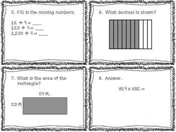 5th grade Common Core Math Review Set 2
