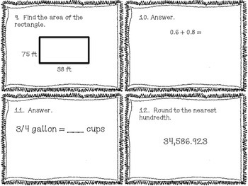 5th grade Common Core Math Review Set 3