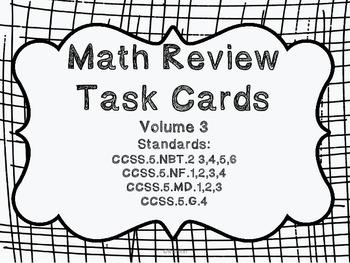 5th grade Common Core Math Review Set 3