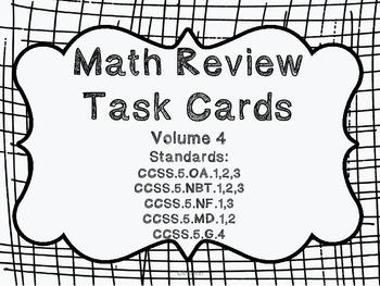 5th grade Common Core Math Review Set 4