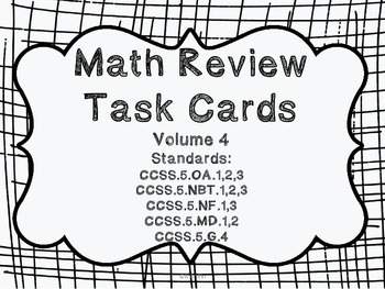5th grade Common Core Math Review Set 4