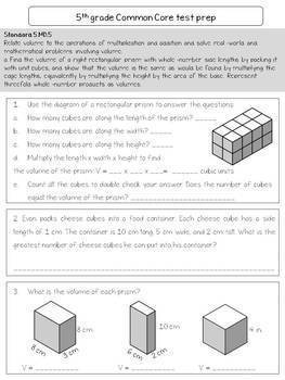 5th grade Common Core Math test prep for SAGE, FSA and other standardized tests