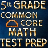 5th grade math test prep for RISE, FSA and other state  tests Distance Learning