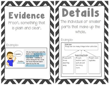 5th grade Common Core Reading/ELA Vocabulary Cards