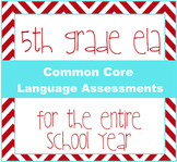 5th grade ELA Common Core Language Quizzes