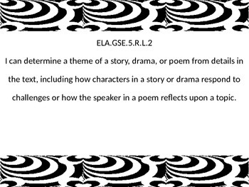 5th grade ELA I Can statements for G.S.E.