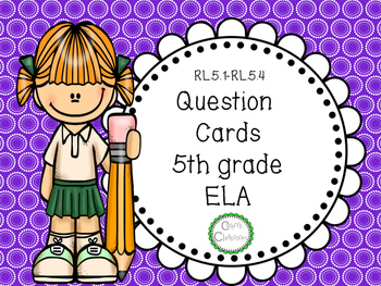 5th grade ELA  Question Stem Cards
