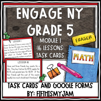 5th Grade Engage NY Module 1 Application Problem Task Cards