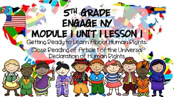 5th grade Informational Text Activity : Engage NY Module 1 Unit 1 Lesson 1