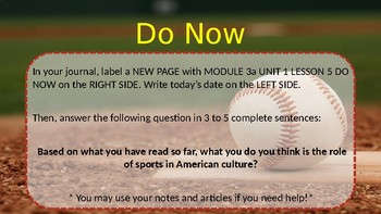 5th Grade Informational Text Activity: Engage NY Module 3a Unit 1 Lesson 5