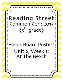5th grade Focus Wall, Unit 2, Reading Street 2013