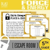 Force, Motion and Energy Escape Room- 5th grade Science Es