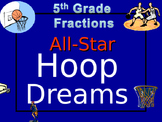 5th grade Fractions Review (Basketball game)