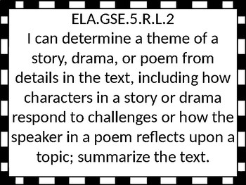 5th grade GSE ELA I Can Statements